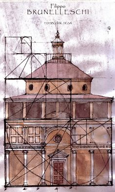 Brunelleschi and the Fibonacci Principle. His use of proportions are so cool!