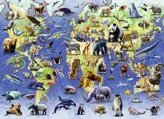 This photo about: Wolves World Map Of Endangered Species Animal Wallpapers Desktop Nexus World Map Of Endangered Species Other Animals Background, entitled as Endangered animals map - ebreezetv Art For Kids Hub, Art Hub, Wildlife Wallpaper, Animal Wallpaper, Ravensburger Puzzle, Holy Innocents Day, Jungle Animals, Cute Animals, Nature Animals
