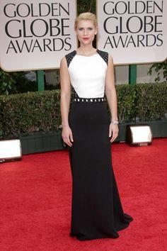 Golden Globes Red Carpet 2012 - Claire Danes in J. Mendel