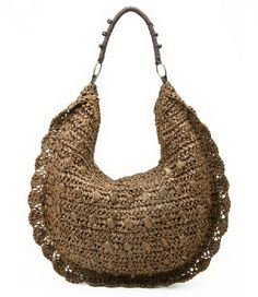 Moon Shape Straw Bag