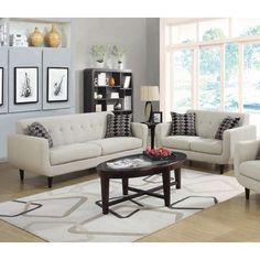 Infini Furnishings Sofa and Loveseat Set Upholstery: Ivory