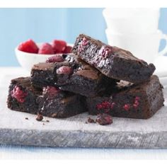 Best-ever Chocolate Raspberry Brownies Recipe - Baking - Recipes   Milly's Kitchenware