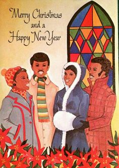 vintage everyday: These Festive African-American Christmas Greeting Cards from the and 1960 are Wonderful Christmas Artwork, Christmas Post, Black Christmas, Retro Christmas, Soulful Christmas, Christmas Portraits, Christmas Decor, Christmas Ideas, Vintage Greeting Cards