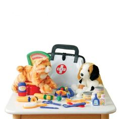 Constructive Playthings CP Toys Pretend Play Veterinarian 30 Pc Playset with Stuffed Puppy Kitty * More info could be found at the image url. (This is an affiliate link) Preschool Toys, Dramatic Play, Child Love, Pretend Play, Role Play, Child Models, Educational Toys, Kids Playing, Kids Toys