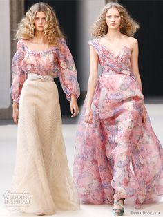 Super Beautiful!!!  Spring floral dresses from Luisa Beccaria 2011 Spring/Summer RTW collection