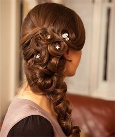 of bridal hair styles - Love Hair hair-doos-for-girls Bride Hairstyles, Pretty Hairstyles, Style Hairstyle, Winter Hairstyles, Greek Hairstyles, Short Hairstyles, Latest Hairstyles, Decent Hairstyle, Hairstyle Hacks
