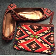 CYNTHIA VINCENT TRIBAL FLATS 8.5 Gorgeous pair of CYNTHIA VINCENT tribal print flats, Size 8.5. Comes with CV dustbag! Excellent PRELOVED condition with only wear being seen on soles. Matching bag also available for purchase! Cynthia Vincent Shoes Flats & Loafers