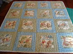 quilts to sew | Baby Quilts - Winnie the Pooh Baby Quilt, I am not a winnie the pooh person, but you could fussy cut any special fabric
