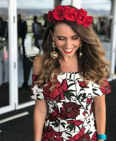 Are you looking to make a bold statement at your next Spring racing event? Our Rosette Crop and matching skirt is sure to do the trick.