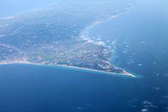 Possidi cape, airplane view in April Beach Fun, Airplane View, Beaches, Cape, Greece, Villa, Studio, Mantle, Greece Country