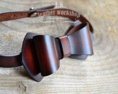 Výsledek obrázku pro leather bowtie