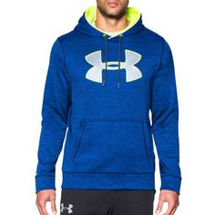 under armour hoodie men blue