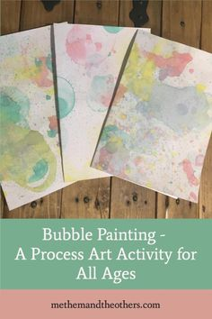 All kids love bubbles so it stands to reason they'll love bubble painting. I did this activity with a 7 year old and a 9 year old but, as long as you take precautions to deal with the mess, it would would work well for any age. It would also make a great toddler groupprocess art activity.
