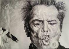Jack Nicholson, drawing. Jack Nicholson, Paintings, Portrait, Drawings, Art, Art Background, Paint, Headshot Photography, Painting Art