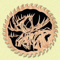 moose scroll saw ornaments | Moose Circle Saw Project Pattern