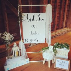 We styled this set up at a gorgeous barn, giving guest a lovely welcome! Wedding Set Up, Wedding Events, Giving, Ladder Decor, Barn, Sparkle, Chair, Home Decor, Recliner