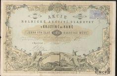 Muzeum cennych papiru A0357 Rolnická akcijní sladovna v Kojetíně na Hané / Landwirtschaftliche Aktien-Malzfabrik in Kojetin in der Hanna 1873