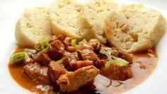 vepřové maso | Vaření s Tomem Mashed Potatoes, Beef, Chicken, Ethnic Recipes, Food, Whipped Potatoes, Meat, Smash Potatoes, Eten