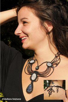 Macrame Earrings, Macrame Jewelry, Collar Macrame, Micro Macramé, Metal Clay, Bracelets, Necklaces, Berry, Crochet