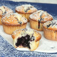 Fantastiskt goda, saftiga blåbärsmuffins!