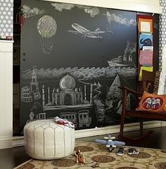 Chalkboard wall. Oh yes.