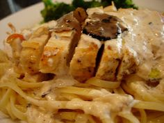 Mary Ellen's Cooking Creations: Black Truffle Heaven.... Chicken and Linguine in a Black Truffle Cream Sauce