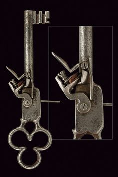 A scarce door key combined with a barrel,   provenance:	 	Europe dating:	 	18th Century.