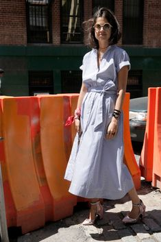 Lisa Marie Fernandez dress, Louis Vuitton heels. Bandana-4-lyfe.