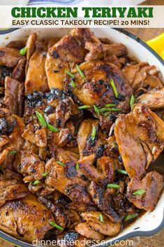 Takes longer than recipe states to cook. Teriyaki Chicken made with just five ingredients in your skillet that's as delicious as your favorite takeout restaurant. Duck Recipes, Turkey Recipes, Asian Recipes, Asian Foods, Chinese Recipes, Dinner Recipes, Hawaiian Recipes, Turkey Dishes, Stuffing Recipes