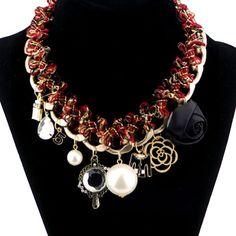 Women Crystal Rhinestone Bib Chunky Statement Necklaces Collar Choker | eBay
