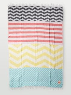 Bonfire Beach Blanket - Roxy  #COLORSOFSUMMER  stripes are my favorite look for summer, best ever blanket for days at the beach, and nights around the bonfire