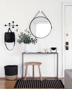 modern entryway with menu hanger - pinned by @ohjulcor