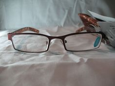 2a31f04506e Details about Foster Grant Bailey A Brown Rectangular Reading Glasses w   Case +1.25 2.00 2.75
