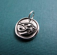inner vision eye of horus sterling silver charm by Hint on Etsy, $36.00