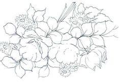 cesto de flores bordado - Pesquisa Google