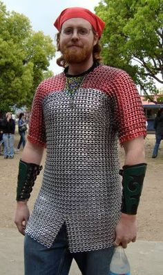 """Keep Calm and Craft On: Recycled RenFaire Man.  Beware of men into RenFaires!  Soda/Beer Tab Chain Maille """"Armor."""""""