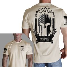 Details: - Front: Drop Line - Back: Molon Labe Spartan - Sleeve: NineLine Apparel American Flag Description: Inspired by an American Veteran. This super-soft fitted crew is instantly loved by all who