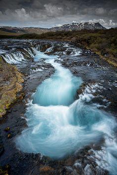 Bruarfoss . Iceland