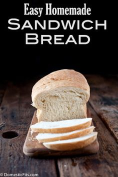 Easy Homemade Sandwich Bread - Domestic Fits Blog  I used 2 cups Better for Bread flour with 1 cup of whole wheat flour. I also added 2 tablespoons of ground flax and 2 tablespoons of chia seeds.