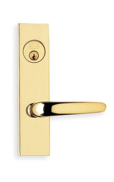 Omnia 4762F Panic Proof Keyed Entry Mortise Lock with Plates from the Locksets C Polished Brass Mortise Lock Keyed Entry Single Cylinder