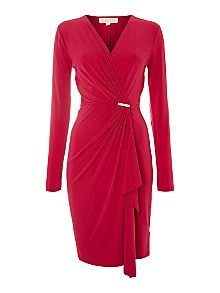 Michael Kors Cross Over Wrap Dress With Pin Detail £165.00