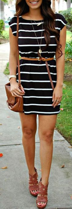 summer outfits striped dress