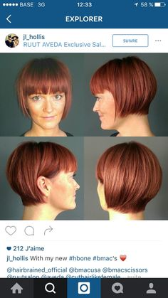 Great Hairstyles, Pixie Hairstyles, Haircuts, Short Bob Cuts, Short Hair With Layers, Graduated Bob, Hair Raising, Grow Out, New Hair