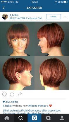 Great Hairstyles, Pixie Hairstyles, Haircuts, Short Bob Cuts, Short Hair With Layers, Graduated Bob, Short Bangs, Hair Raising, Grow Out