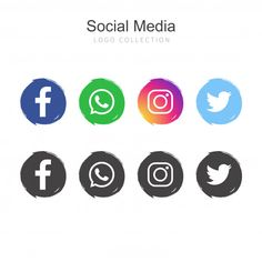 Social media logos pack Instagram Logo, Social Media Icons, Social Media Content, Whatsapp Png, Vector Whatsapp, Make Business Cards, Network Icon, Software, Youtube Channel Art