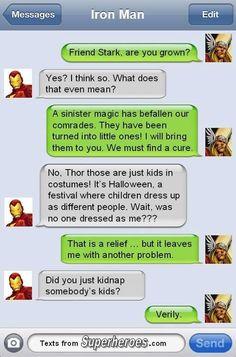 Better than using Mjolnir on that kid dressed as Loki I suppose....