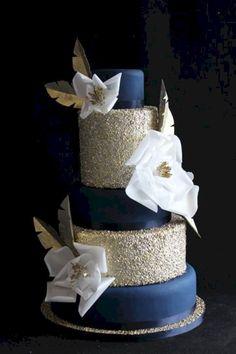 Amazing navy blue wedding cakes 71