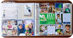 Susan Weinroth Project Life Week 4 - I just love her layouts each week!