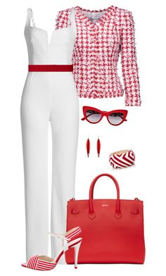 """White&Red1"" by doramoleiro ❤ liked on Polyvore featuring Oscar de la Renta, Galvan, Off-White, Dolce&Gabbana, L.K.Bennett, Paule Ka, Mola SaSa, Mark Davis and white"