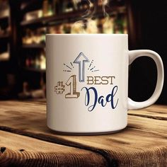 Does Dad need a new coffee mug? Show your love for him with one of our mugs available in 11 and 15 ounce sizes.http://www.juliebluet.com or www.juliebluet.etsy.com